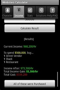 iMobsters Calculator - screenshot thumbnail