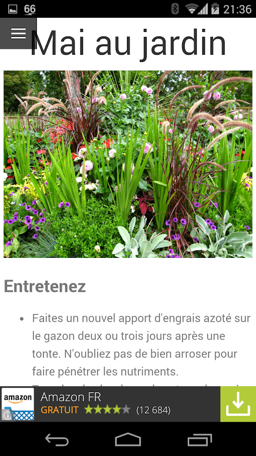 calendrier du jardin android apps on google play