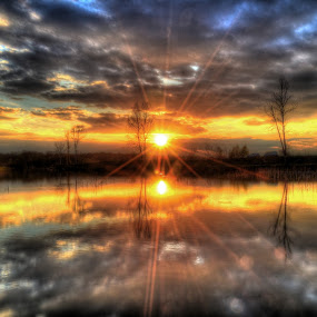 Sunset by Vanja Vidaković - Landscapes Sunsets & Sunrises ( vukovar, 2014, croatia, stara vuka,  )