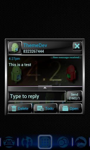 Jelly Bean 3D Theme for GO SMS