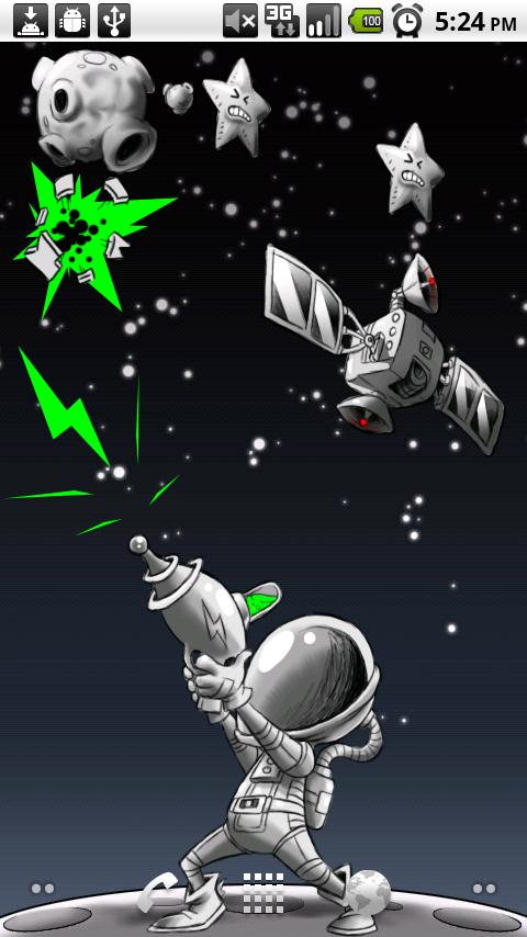 Space Junk Live Wallpaper - screenshot