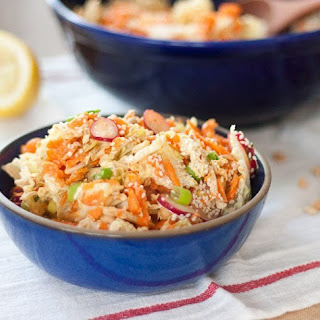 Peanut, Carrot, and Cabbage Slaw.
