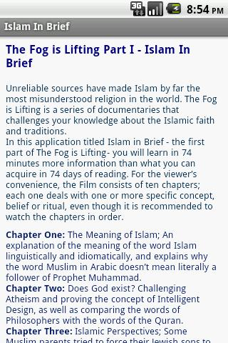Islam in Brief - screenshot