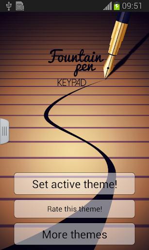 Fountain Pen Keypad