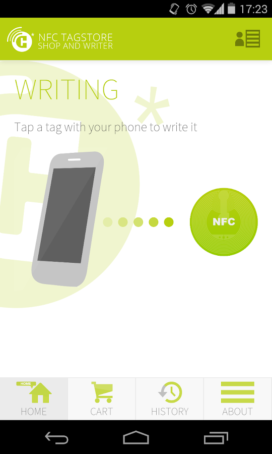 NFC TAGSTORE WRITER - screenshot