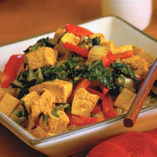 Hoisin Tofu and Vegetables.
