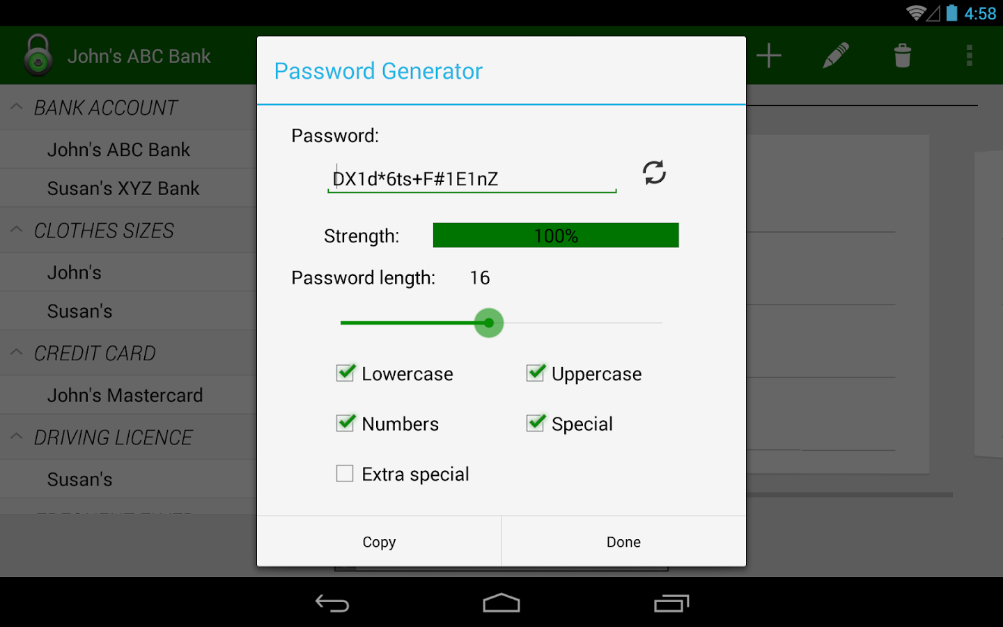 Password Manager Lite- screenshot