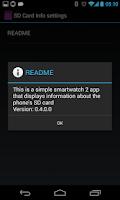 Screenshot of Sony SW2 SD Card Info