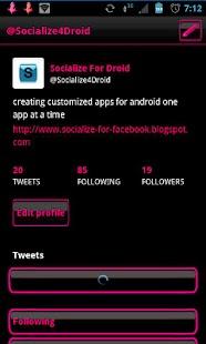 Pink Socialize for Twitter- screenshot thumbnail