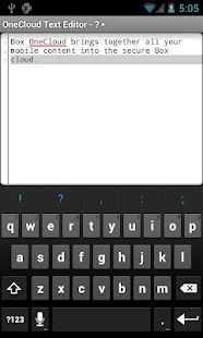 OneCloud Text Editor- screenshot thumbnail