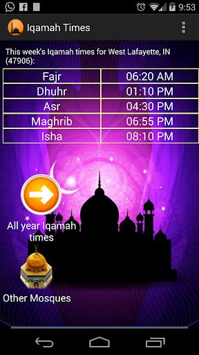 Iqamah Times