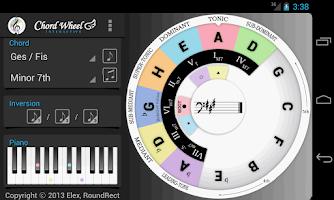 Screenshot of Chord Wheel : Circle of 5ths