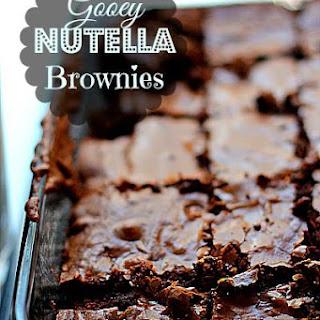 Fudgy Nutella Brownies.