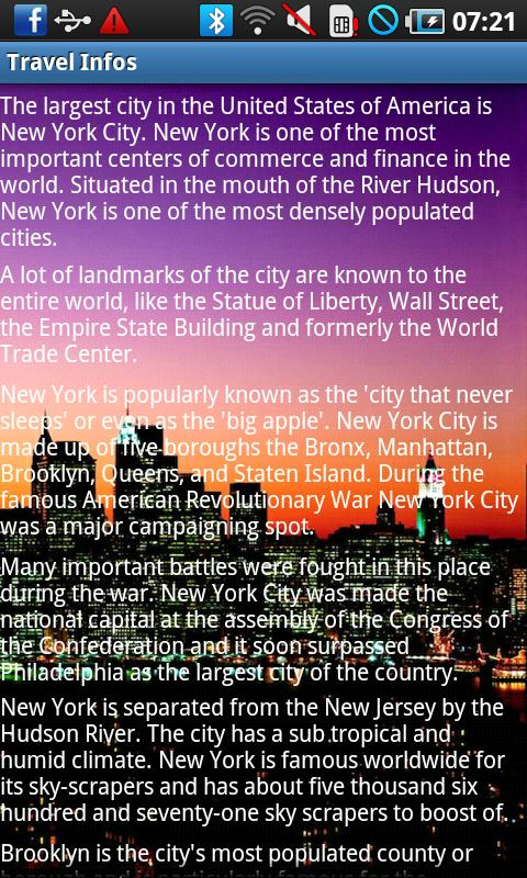 New York Travel Guide - screenshot
