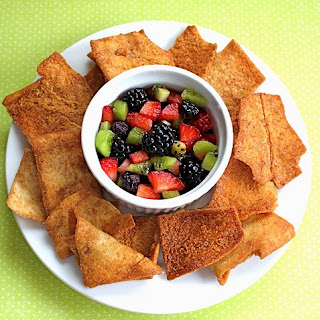 Fruit Salsa with Cinnamon Sugar Pita Chips Recipe