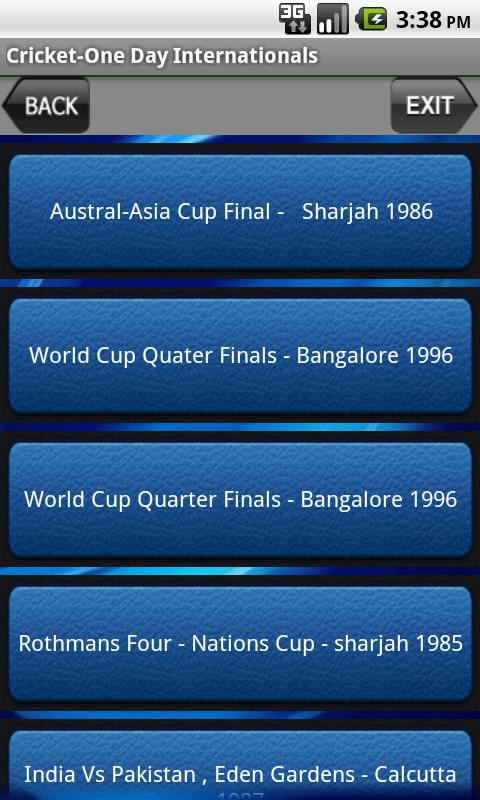 Cricket-One Day Internationals - screenshot