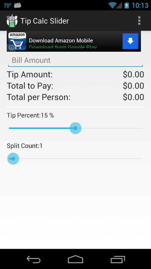 Tip Calc Slider - screenshot