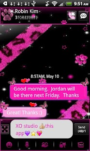 Leopard Theme for GO SMS- screenshot thumbnail