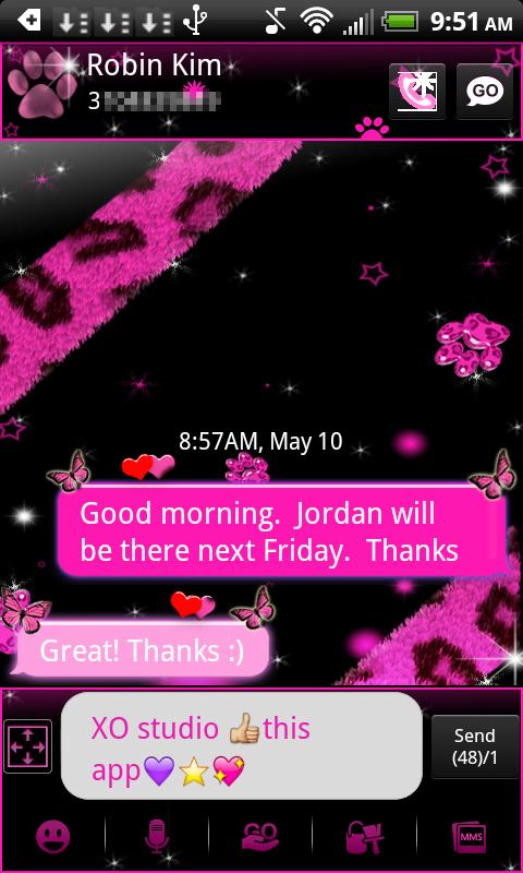 Leopard Theme for GO SMS- screenshot
