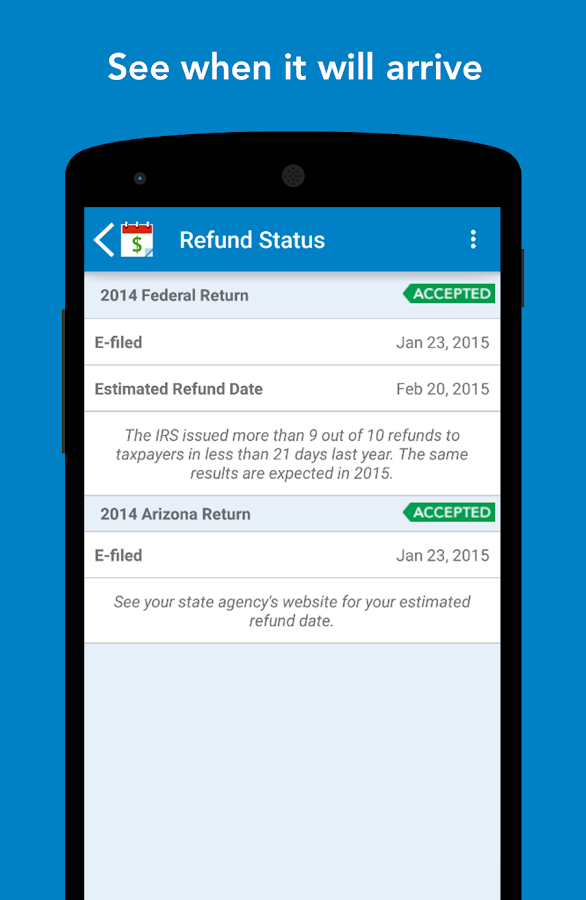 MyTaxRefund by TurboTax – Free- screenshot