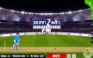 Screenshot of Sachins Cricket Blast