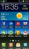 Screenshot of Calendar Status Bar