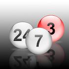 Virtual lottery icon