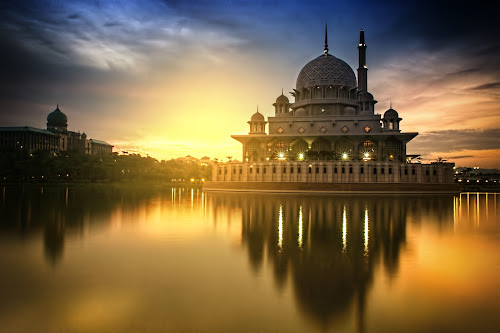 PINK MOSQUE by WanUkay Perdana - Buildings & Architecture Other Exteriors ( muslim, mosque sunrise, putrajaya, pink mosque, malaysia )