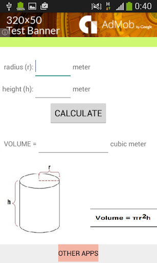 Cylinder Calculator