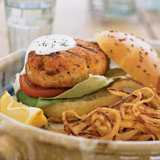 Fresh Salmon Burgers.