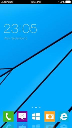 简约蓝色风手机主题
