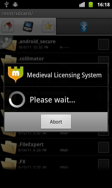 Medieval Licensing System - screenshot