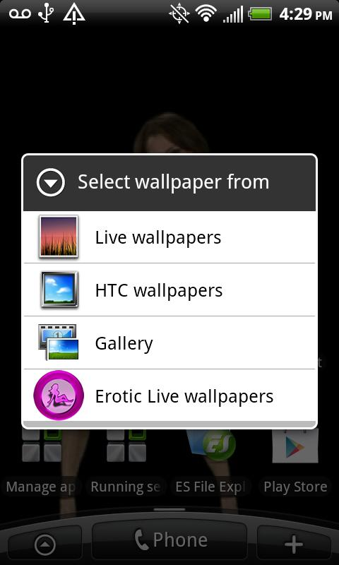Erotic Live Wallpapers - screenshot