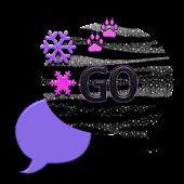 GO SMS THEME/SnowFlakeBlkTgr