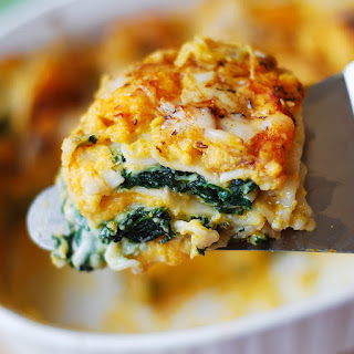 Butternut Squash and Spinach Lasagna