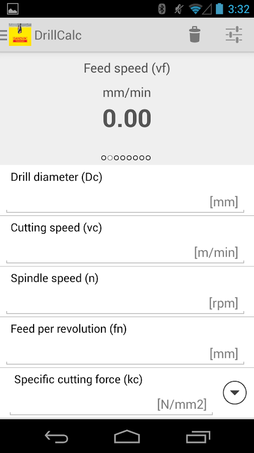 Drilling & Tapping Calculator- screenshot