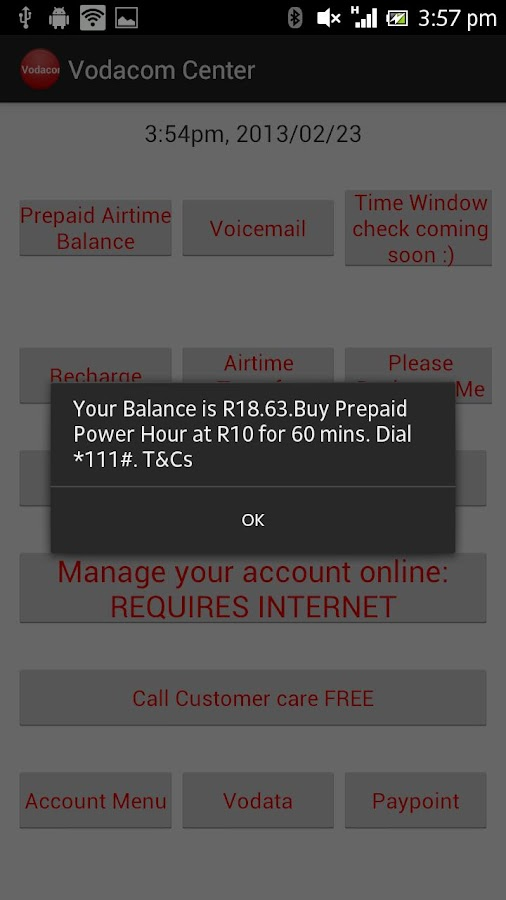 Vodacom Centre - screenshot