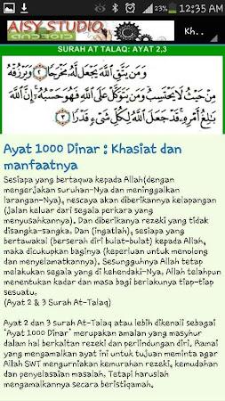 Rezeki Barokah Ayat 1000 Dinar 1.0 screenshot 885353