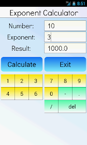 Exponent Calculator screenshot 1
