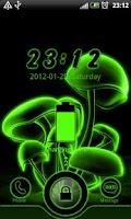 Screenshot of Green Neon GO Locker theme