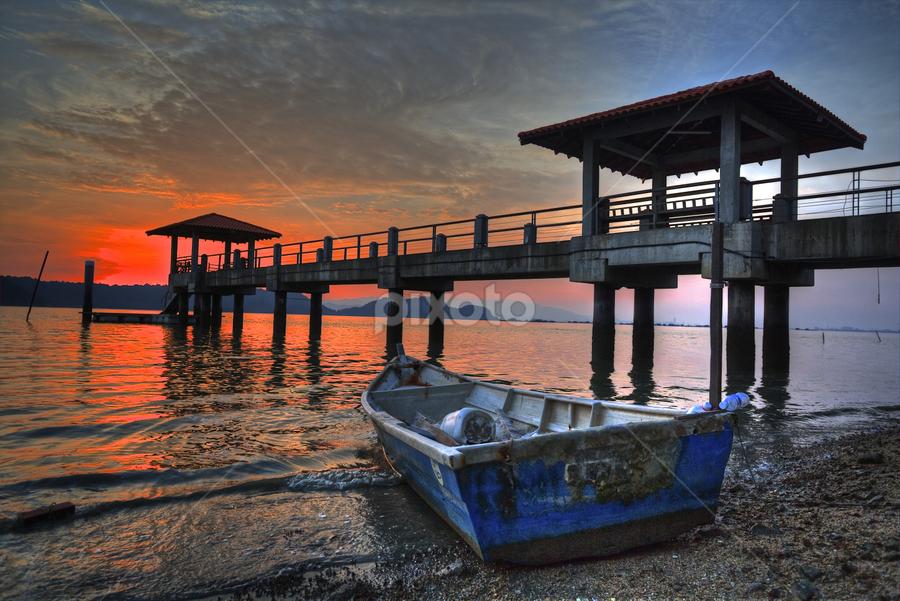 by PS FOONG - Landscapes Sunsets & Sunrises ( , blue, orange. color )