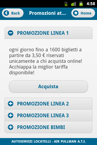 Orio Shuttle Mobile- screenshot
