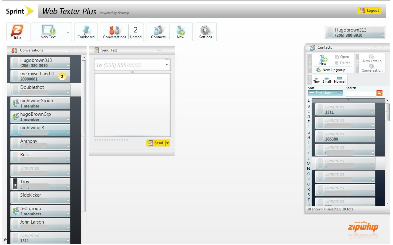 Sprint Web Texter Plus- screenshot