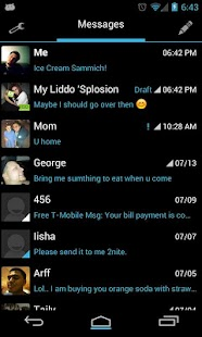 Go SMS Theme Ice Cream Minimal
