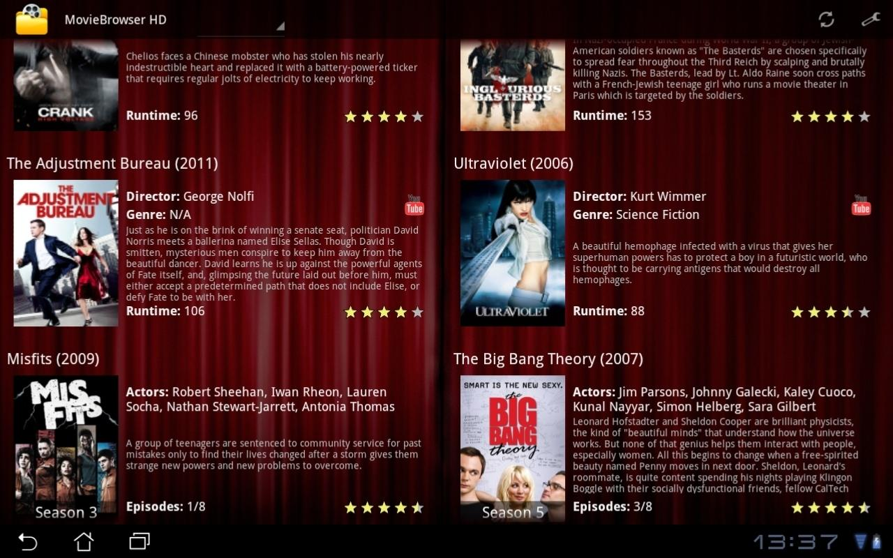MovieBrowser UPnP - screenshot