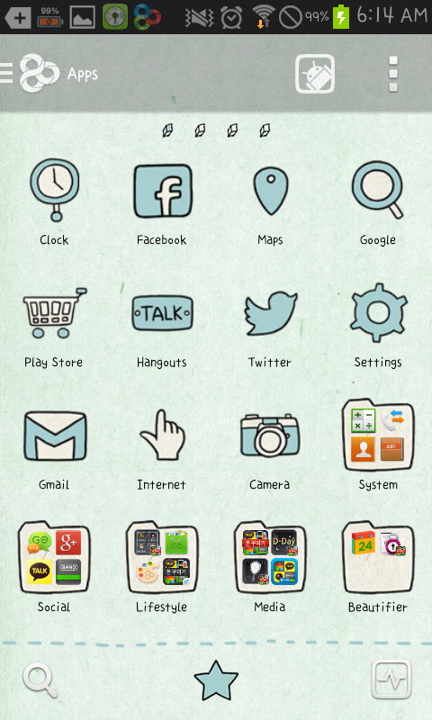 tired go launcher theme - screenshot