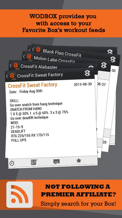 WODBOX - Find, Track WODs - screenshot