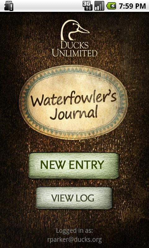 DU Waterfowler's Journal - screenshot
