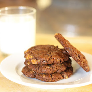 Chocolate Almond Toffee Cookies
