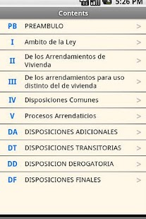 Spanish Tenancies Act - screenshot thumbnail